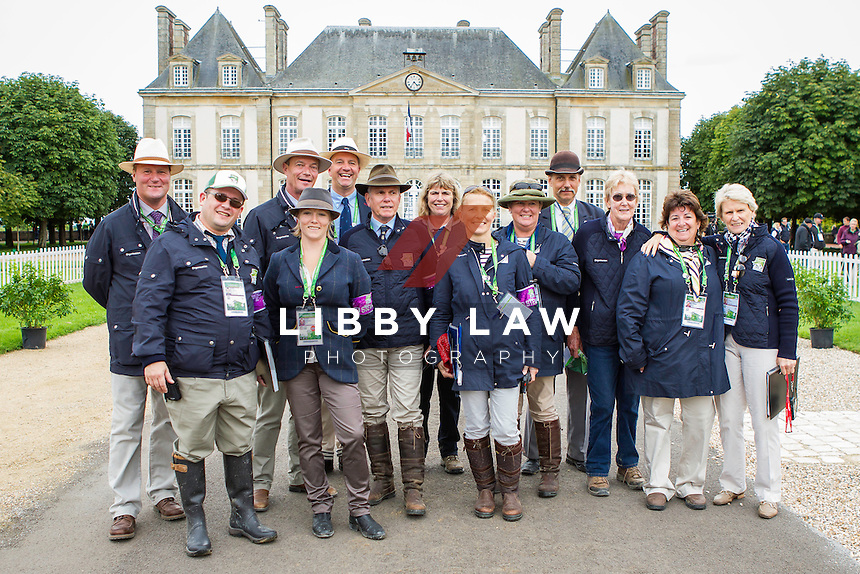 THE STEWARDS ARE READY FOR WEG-EVENTING: FIRST HORSE INSPECTION: EVENTING: The Alltech FEI World Equestrian Games 2014 In Normandy - France (Wednesday 27 August) CREDIT: Libby Law COPYRIGHT: LIBBY LAW PHOTOGRAPHY - NZL