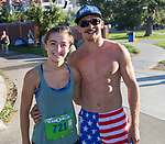 Helen Mino Faulkner and Aaron Elissa during the Reno 10 Mile Run in downtown Reno on Sunday, August 13, 2017.