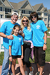 "Guiding Light's Frank Dicopoulos ""Frank Cooper"" donates his time with his family - wife Teja, daughter Olivia (GL's Maureen) and son Jaden on September 7, 2008 at FANN - The Food Allergy & Anaphylaxis Network Walkathon which ultimately benefits Monmouth County (NJ) and the surrounding areas as they continue to raise food allergy awareness in Longbranch, NJ. (Photo by Sue Coflin/Max Photos)"