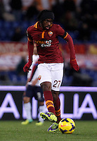 Calcio, Serie A: Roma vs Cagliari. Roma, stadio Olimpico, 25 novembre 2013.<br /> AS Roma forward Gervinho, of Ivory Coast, in action during the Italian Serie A football match AS Roma and Cagliari between AS Roma and Cagliari at Rome's Olympic stadium, 25 November 2013.<br /> UPDATE IMAGES PRESS/Isabella Bonotto