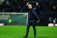 Steve Cooper Head Coach of Swansea City applauds the fans at the final whistle during the Sky Bet Championship match between Preston North End and Swansea City at the Deepdale Stadium in Preston, England, UK. Saturday 01 February 2020