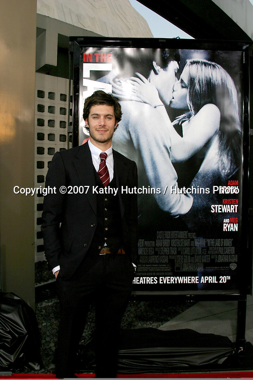 """Adam Brody.""""In The Land of Women"""" LA Premiere.Cimerama Dome.ArcLight Hollywood.Los Angeles, CA.April 16, 2007.©2007 Kathy Hutchins / Hutchins Photo...."""
