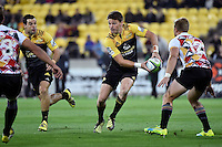 Hurricanes' Beaded Barrett in action during the Super Rugby - Hurricanes v Southern Kings at Westpac Stadium, Wellington, New Zealand on Friday 25 March 2016.<br /> Photo by Masanori Udagawa. <br /> www.photowellington.photoshelter.com.