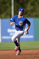 Ty Holton (18) of Lincoln High School in Tallahassee, Florida playing for the Chicago Cubs scout team during the East Coast Pro Showcase on July 31, 2014 at NBT Bank Stadium in Syracuse, New York.  (Mike Janes/Four Seam Images)