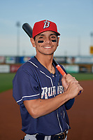 Binghamton Rumble Ponies shortstop Andres Gimenez (13) poses for a photo before an Eastern League game against the Richmond Flying Squirrels on May 29, 2019 at The Diamond in Richmond, Virginia.  Binghamton defeated Richmond 9-5 in ten innings.  (Mike Janes/Four Seam Images)