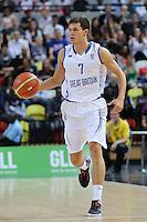 GB's Devon Van Oostrum in action during the EuroBasket 2015 2nd Qualifying Round Great Britain v Bosnia & Herzegovina (Euro Basket 2nd Qualifying Round) at Copper Box Arena in London. - 13/08/2014