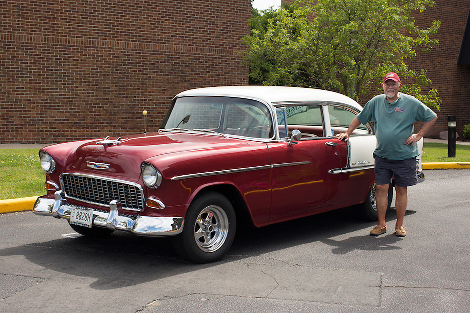 1955 Cruiser Class (#31C) – 1955 Chevrolet Bel Air 2-Door Sedan registered to Rich Leimbach is pictured during 4th State Representative Chevy Show on Thursday, June 30, 2016, in Fort Wayne, Indiana. (Photo by James Brosher)