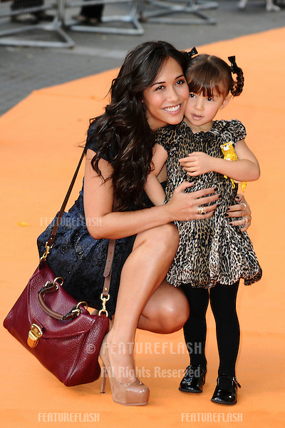 "Myleene Klass and daughter, Ava arrives for the premiere of ""The Lion King 3D"" at the bfi IMAX cinema, London..25/09/2011  Picture by Steve Vas/Featureflash"