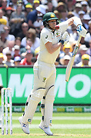 26th December 2019; Melbourne Cricket Ground, Melbourne, Victoria, Australia; International Test Cricket, Australia versus New Zealand, Test 2, Day 1; Steve Smith of Australia dodges a high ball - Editorial Use