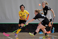Malaysia's Areena Binti Abdullah in action during the World Floorball Championships 2017 Qualification for Asia Oceania Region - New Zealand v Malaysia at ASB Sports Centre , Wellington, New Zealand on Saturday 4 February 2017.<br /> Photo by Masanori Udagawa<br /> www.photowellington.photoshelter.com.
