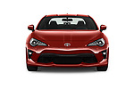 Car photography straight front view of a 2017 Toyota GT86 Sport 2 Door Coupe