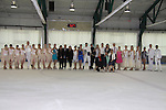 All Children's Rebecca Budig and Douglas Webster (artistic director) are hosts and also skated pose with judges, Nicole Miller, David Dorfman, Sasha Cohen, competetors Jonathan Hunt and his partner actress Sean Young, Moira North (founder/director) at Ice Theatre of New York's Celeb Skate 2013 on June 9, 2013 at the Sky Rink at Chelsea Piers, New York City, New York. (Photo by Sue Coflin/Max Photos)