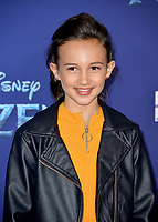 "LOS ANGELES, USA. November 08, 2019: Kaylin Hayman at the world premiere for Disney's ""Frozen 2"" at the Dolby Theatre.<br /> Picture: Paul Smith/Featureflash"