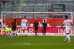 Vorm Tor<br /><br />1. Fussball Bundesliga 33. Spieltag - Fortuna Duesseldorf vs. FC Augsburg 20.06.2020<br /><br /><br /><br />(Foto: Sebastian Sendlak / wave.inc/POOL/ via Meuter/Nordphoto)<br /><br />DFL regulations prohibit any use of photographs as image sequences and/or quasi-videos.<br /><br />EDITORIAL USE ONLY<br /><br />National and international News-Agencys OUT.