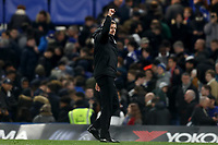 30th October 2019; Stamford Bridge, London, England; English Football League Cup, Carabao Cup, Chelsea Football Club versus Manchester United; Manchester United Manager Ole Gunnar Solskjar celebrates the 1-2 win - Strictly Editorial Use Only. No use with unauthorized audio, video, data, fixture lists, club/league logos or 'live' services. Online in-match use limited to 120 images, no video emulation. No use in betting, games or single club/league/player publications