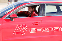 Sergio Ramos participates and receives new Audi during the presentation of Real Madrid's new cars made by Audi in Madrid. December 01, 2014. (ALTERPHOTOS/Caro Marin) /Nortephoto