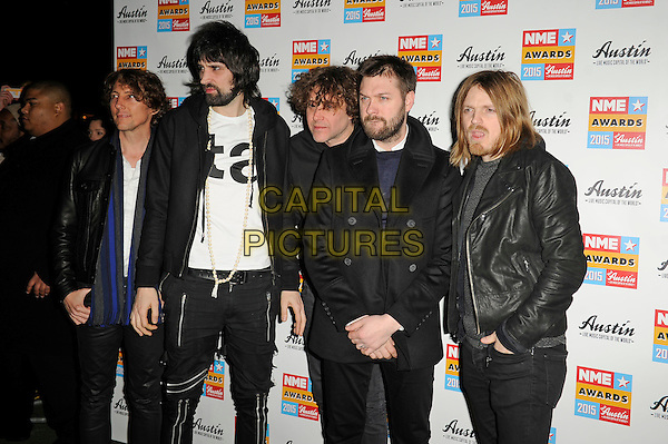 LONDON, ENGLAND - FEBRUARY 18: Kasabian attending the NME Awards at Brixton Academy on February 18 2015 in London, England.<br /> CAP/MAR<br /> &copy; Martin Harris/Capital Pictures