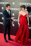premiere. divergente. cines. callao. madrid 03/04/2014.<br /> Shailene Woodley, Theo James