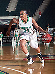 North Texas Mean Green guard Tamara Torru (34) in action during the NCAA Women's basketball game between the South Alabama Jaguars and the University of North Texas Mean Green at the North Texas Coliseum,the Super Pit, in Denton, Texas. South Alabama defeated UNT 79 to 61.