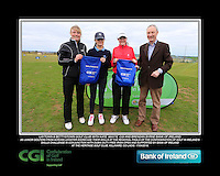 Laytown & Bettystown Golf Club Girls With Kate Wright CGI and Brendan Byrne Bank of Ireland.<br /> Junior golfers from across Leinster practicing their skills at the regional finals of the Dubai Duty Free Irish Open Skills Challenge supported by Bank of Ireland at the Heritage Golf Club, Killinard, Co Laois. 2/04/2016.<br /> Picture: Golffile | Fran Caffrey<br /> <br /> <br /> All photo usage must carry mandatory copyright credit (© Golffile | Fran Caffrey)
