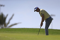 Richard McEvoy (ENG) on the 11th green on the 11th tee during the final round of  the Saudi International powered by Softbank Investment Advisers, Royal Greens G&CC, King Abdullah Economic City,  Saudi Arabia. 02/02/2020<br /> Picture: Golffile | Fran Caffrey<br /> <br /> <br /> All photo usage must carry mandatory copyright credit (© Golffile | Fran Caffrey)
