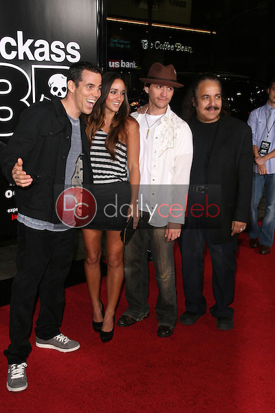 Steve O, Clifton Collins Jr., Ron Jeremy<br /> at the premiere of &quot;Jackass 3D,&quot; Chinese Theater, Hollywood, CA. 10-13-10<br /> Dave Edwards/DailyCeleb.com 818-249-4998