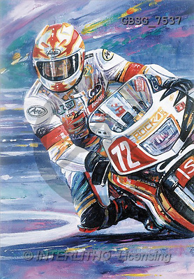 Ron, MASCULIN, paintings, motobike(GBSG7537,#M#) Männer, masculino, illustrations, pinturas , hombres ,everyday