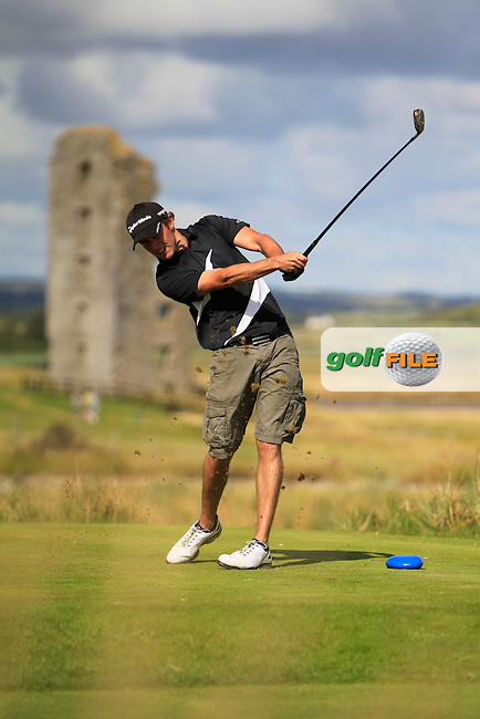 Nicky Grant (Knock) on the 13th tee during the South of Ireland Amateur Open Championship 4th Round at Lahinch Golf Club  29th July 2013 <br /> Picture:  Thos Caffrey / www.golffile.ie