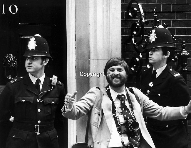 Photojournalist Ron Bennett 10 Downing Street Westminster England, Number 10, 10 Downing Street in London is the official residence of the Prime Minister who is now always the First Lord of the Treasury, 10 Downing Street is the headquarters of Her Majesty's Government,