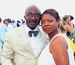Senior Vice President and Editor-In-Chief of Black Enterprise Interactive Alfred A. Edmond Jr. and Speaker, Trainer, Author and Voiceover  Talent Zara Green attend &quot;Beach Glamour in the Hamptons, A Benefit Party<br />