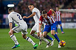 Real Madrid's Daniel Carvajal Lucas Vazquez Atletico de Madrid's Filipe Luis during the match of La Liga between Atletico de Madrid and Real Madrid at Vicente Calderon Stadium  in Madrid , Spain. November 19, 2016. (ALTERPHOTOS/Rodrigo Jimenez)