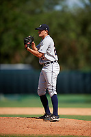 Detroit Tigers pitcher Will Vest (22) gets ready to deliver a pitch during an Instructional League game against the Atlanta Braves on October 10, 2017 at the ESPN Wide World of Sports Complex in Orlando, Florida.  (Mike Janes/Four Seam Images)