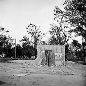 Long Beach, Mississippi.USA.July 30, 2006..A bank vault is all that remain of a bank after being hit by hurricane Katrina one year ago....