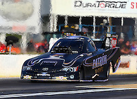 May 16, 2014; Commerce, GA, USA; NHRA funny car driver Alexis DeJoria during qualifying for the Southern Nationals at Atlanta Dragway. Mandatory Credit: Mark J. Rebilas-USA TODAY Sports