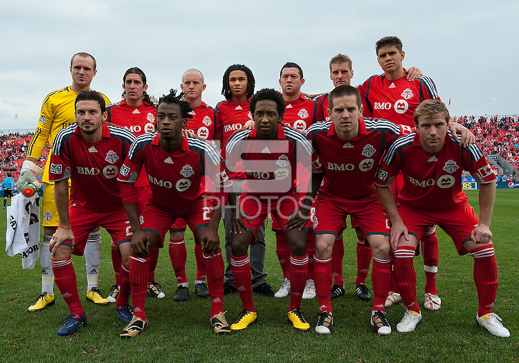 22 May 2010: Toronto FC starting eleven during a game between the New England Revolution and Toronto FC at BMO Field in Toronto..Toronto FC won 1-0.....