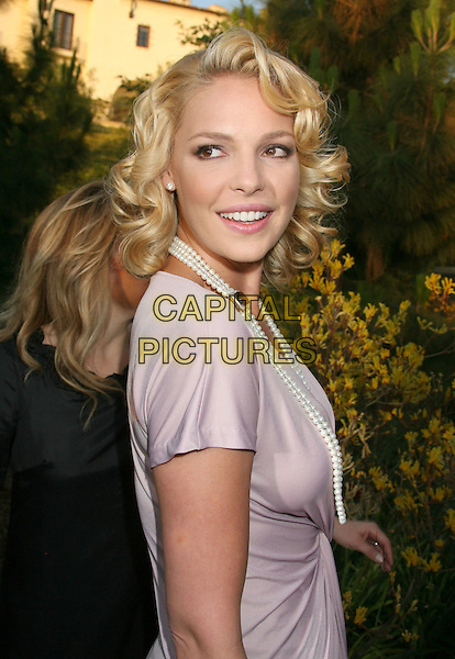 KATHERINE HEIGL.7th Annual Chrysalis Butterfly Ball held at a Private Residence, Los Angeles, California, USA,.31 May 2008..half length over shoulder pearl necklace.CAP/ADM/MJ.©Michael Jade/Admedia/Capital Pictures