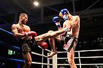 02.11.2019, Hansehalle Luebeck, GER,  K1 Warriors Nationscup Deutschland vs. Niederlande Kampf 16 Kampfart K1<br /> <br /> <br /> im Bild / picture shows<br /> Rote Ecke Mohamed Atubal (d'Amato Gym)<br /> vs. Blaue Ecke <br /> Menno van Roosmalen (Ling Ho Gym)<br /> <br /> Foto © nordphoto / Tauchnitz