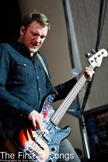 Dave Parsons of Bush performs at the Klipsch Music Center in Indianapolis, IN.