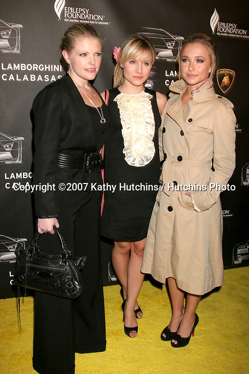 Natalie Maines, Kristen Bell, and Hayden Panettiere.Lamborghini Calabasas Opening & Celebrity Race for Epilepsy.Calabasas, CA.November 14, 2007.©2007 Kathy Hutchins / Hutchins Photo...               .