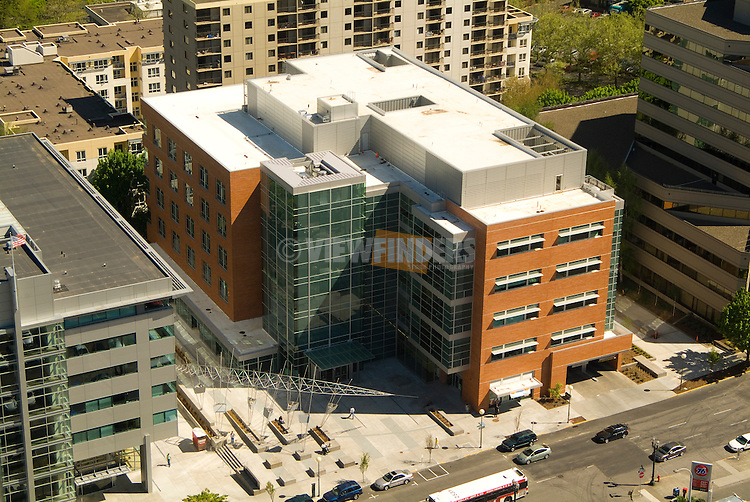 Aerial of the Portland State University Fariborz Maseeh College of Engineering and Computer Science, Oregon