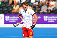 Sam Ward of England during the Hockey World League Semi-Final Pool A match between England and Malaysia at the Olympic Park, London, England on 17 June 2017. Photo by Steve McCarthy.