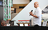 Camilo Baquero, MetLife Stadium Executive Chef, speaks during the New York Jets Gameday Upfront gathering at MetLife Stadium in East Rutherford, NJ on Tuesday, Aug. 15, 2017. The team unveiled new food offerings which will be available on game days this season.