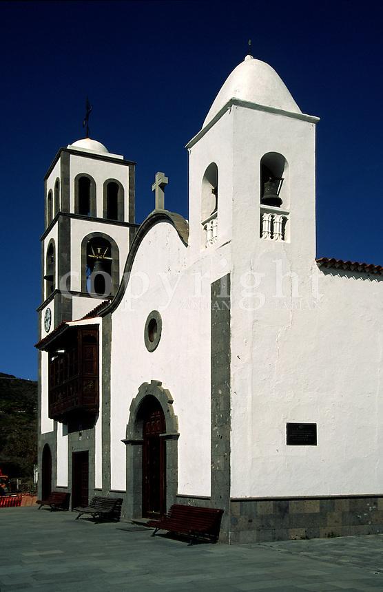 Church in Santiago del Teide, Tenerife, Spain, Europe
