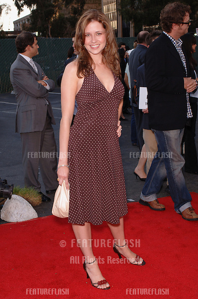 "Actress JENNA FISCHER, star of TV series ""The Office"" at party in Los Angeles to launch the new season on NBC TV..July 25, 2005 Los Angeles, CA.© 2005 Paul Smith / Featureflash"