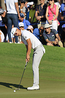 Haotong Li (CHN) birdie putt on the 16th green during Sunday's Final Round of the 2018 Turkish Airlines Open hosted by Regnum Carya Golf &amp; Spa Resort, Antalya, Turkey. 4th November 2018.<br /> Picture: Eoin Clarke | Golffile<br /> <br /> <br /> All photos usage must carry mandatory copyright credit (&copy; Golffile | Eoin Clarke)