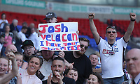 Bolton Wanderers Fans show there emotions at the end of todays match<br /> <br /> Photographer Rachel Holborn/CameraSport<br /> <br /> The EFL Sky Bet Championship - Bolton Wanderers v Nottingham Forest - Sunday 6th May 2018 - Macron Stadium - Bolton<br /> <br /> World Copyright &copy; 2018 CameraSport. All rights reserved. 43 Linden Ave. Countesthorpe. Leicester. England. LE8 5PG - Tel: +44 (0) 116 277 4147 - admin@camerasport.com - www.camerasport.com