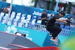 Keyaki Ike (JPN), <br /> AUGUST 28, 2018 - Skateboarding : <br /> Men's Street Qualification<br /> at Jakabaring Sport Center Skatepark <br /> during the 2018 Jakarta Palembang Asian Games <br /> in Palembang, Indonesia. <br /> (Photo by Yohei Osada/AFLO SPORT)