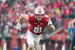 Wisconsin Badgers tight end Troy Fumagalli (81) during an NCAA College Big Ten Conference football game against the Michigan Wolverines Saturday, November 18, 2017, in Madison, Wis. The Badgers won 24-10. (Photo by David Stluka)