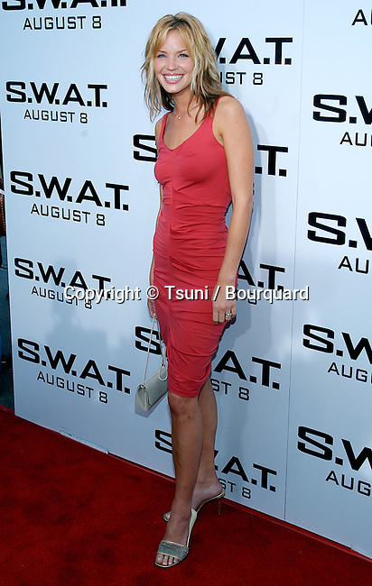 """Ashley Scott arriving at the """" S.W.A.T. Premiere """" at the Westwood Village Theatre in Los Angeles. July 30, 2003."""