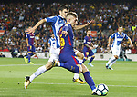Deulofeu in action during la Liga game between FC Barcelona against RCD Espanyol at Camp Nou